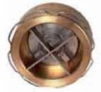 Клапан обратный латунь 172-01 Ду 150 Ру16 межфл 172-01-150 VYC