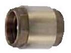 Клапан обратный латунь R60 Ду 32 Ру16 ВР/ВР пружинный R60Y006 Giacomini