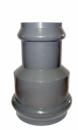 Переход НПВХ серый напор 2-х растр Дн 160х110 в комплекте